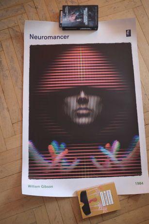 Plakat Neuromancer cyberpunk William Gibson 61x91,5