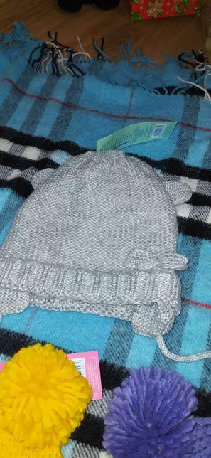 Шапочка весняна/ теплая шапка 1 рочок