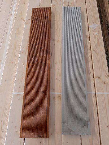 deska tarasowa świerk skandynawski 28x145 AB różne kolory, olejowana
