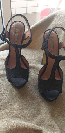 Sandalias de glitter como novas