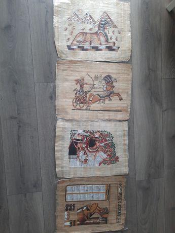 4 x papirus Egipt Sfinks 45/35 lata 90