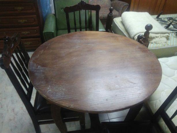 Mesa e 6 cadeiras sala Vintage