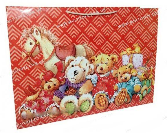 Подарочный пакет ламинированый детский подарочная упаковка