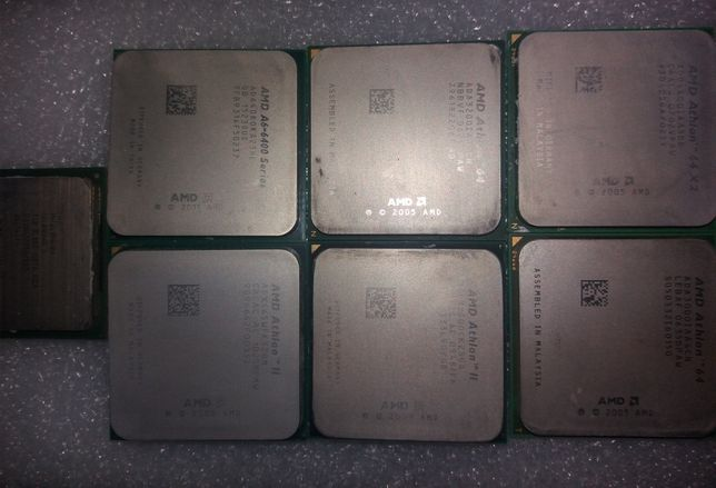 Процесори A6-6400K; X3 445: X2 4400+: 3000+: 3200+: X2 250: Celeron D