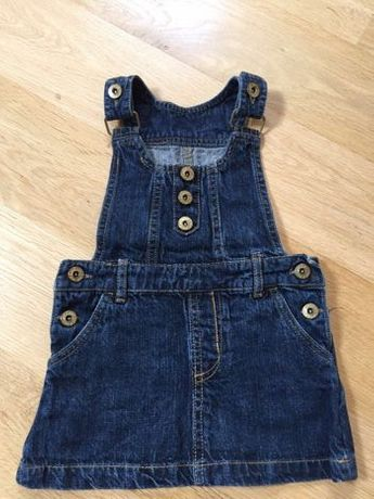 Sukienka na szelki jeansowa 98 2-3lata