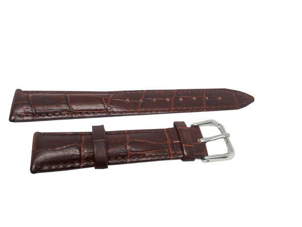 Pasek do zegarka Jinshoulian 20 mm brązowy.