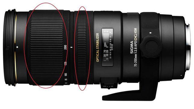 Anel borracha Zoom ou foco grip lentes Canon Nikon Sigma Tamron