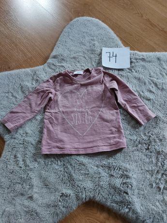 Koszulka bluzka  r. 74Next 100 % bawełna kolor brudny róż