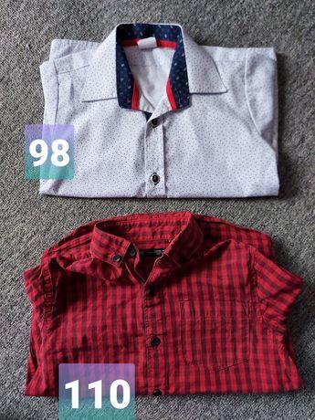 Koszule chłopięce 98 i 110