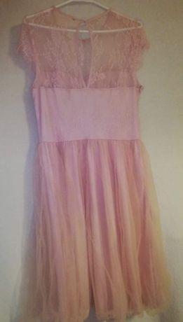 Sukienka z tiulem różowa