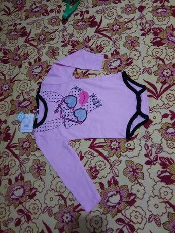 бодик красивый для девочки 2-3 года rumble tumble ss4205f розовый новы