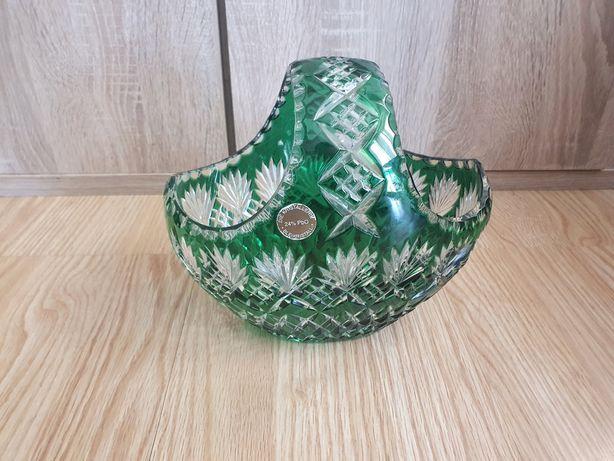 Kryształowy zielony  koszyk