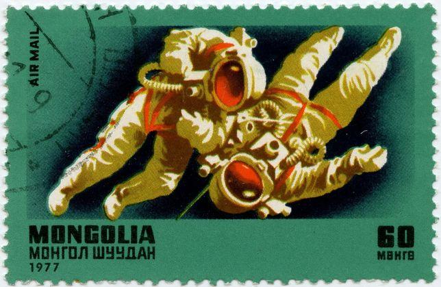 1977г. Монголия. Почтовые марки. Космос.