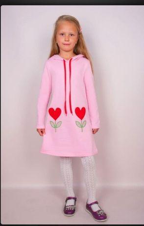 Рожеве пляттячко для дівчинки. Нове.