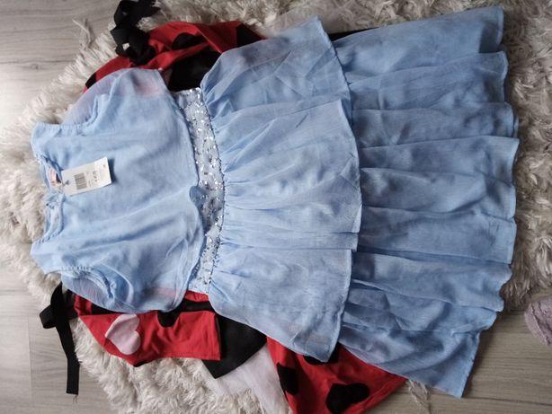 sukienka C&A błękitna nowa 158