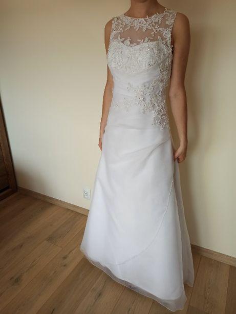 Suknia ślubna, r.36, dzwonek