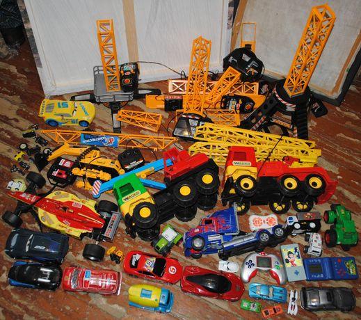 Большой лот техника мальчику 4- 12 лет радио, механика, краны, машинки