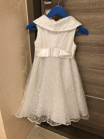 Белое платье на праздник утренник или Новый год