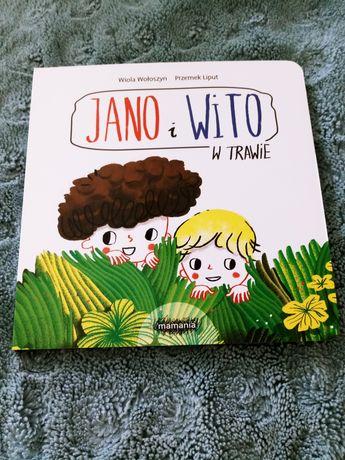 Jan i Wito w trawie NOWA książka, Wiola Wołoszyn książeczka