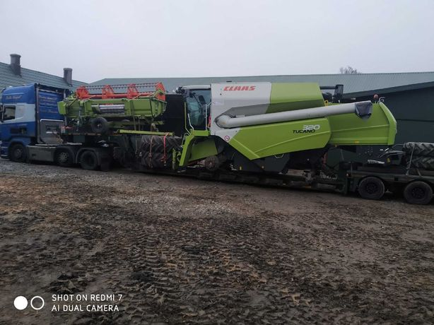 Transport kombajnów, claas, John deere, mf,bizon, laverda, new holland