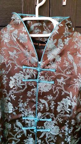 casaco chinês de seda - novo