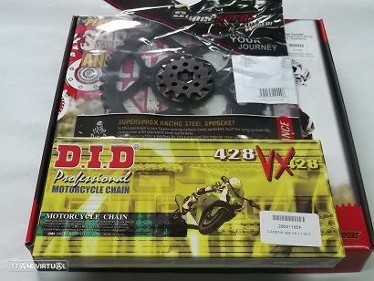 Kit Transmissao com corrente DID X-Ring Yamaha YBR 125 de 2005 a 2016