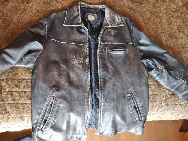 Blusão casaco homem em pele genuína, tamanho M