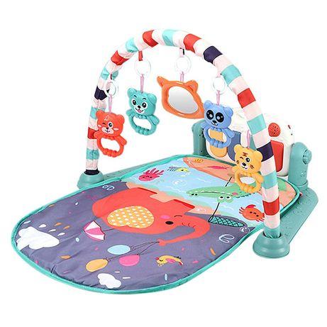 Mata dla niemowlaka, koc dla dzieci z łukiem i muzyką 0m+