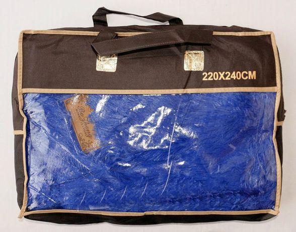 Плед травка 220×240 синий