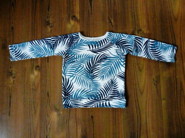 Bluza, bluzka w liście, 98/104 cm, 2-3latka