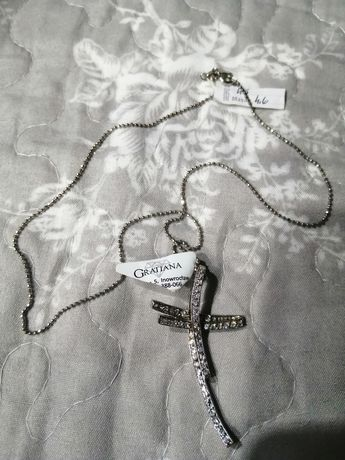 Srebrny krzyżyk z łańcuszkiem