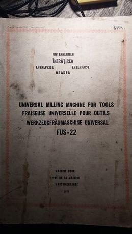 instrukcja obsługi , katalog frezarka FUS-22 2 książki