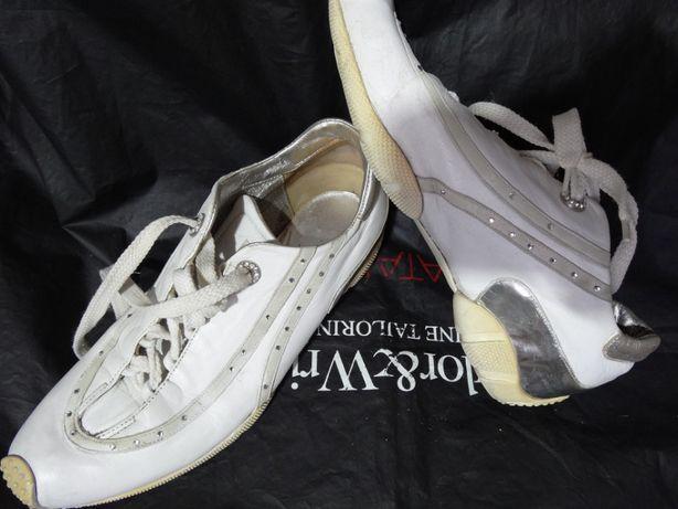 Кроссовки белые босоножки кожа Gianmarco Lorenzi стелька 23,8