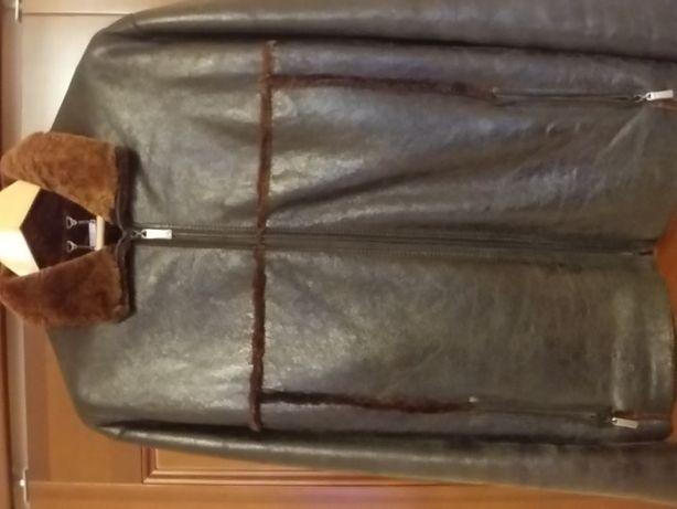 Кожаная куртка мужская зимняя