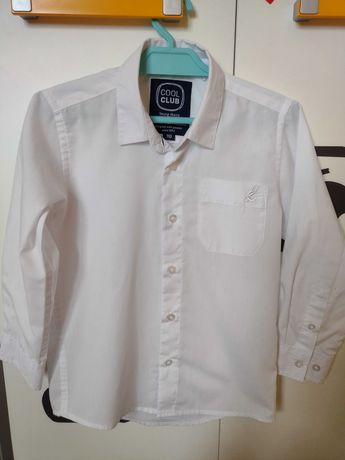 Koszula biała chłopięca r.110