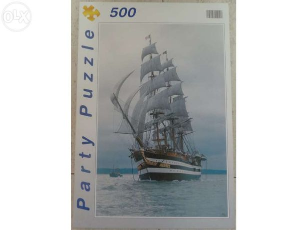 Puzzle ( 500 peças ) - Veleiro navio Americo Vespucci