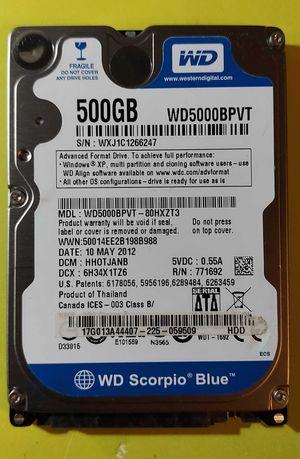 Жёсткий диск 500GB 5400rpm 8MB Western Digital WD5000BPVT 2.5
