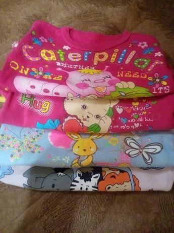 Продам футболки для девочки 1—2года,очень яркие и красивык
