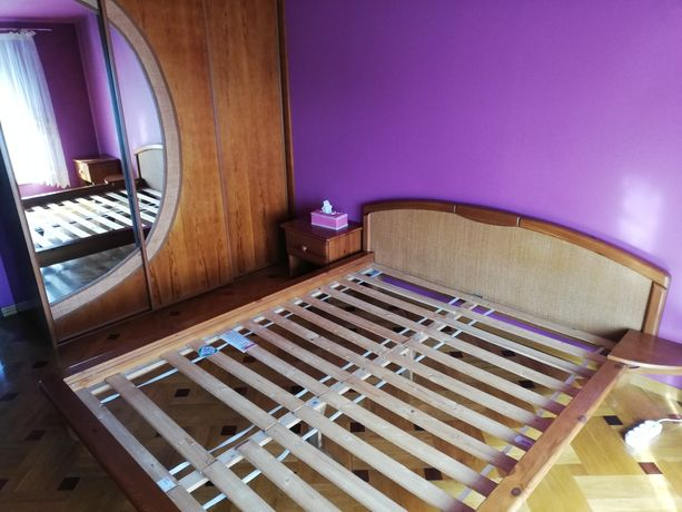 Meble sypialnia ratan drewno
