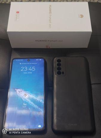 Sprzedam Huawei P Smart 2021 4/128 GB czarny komplet gwarancja