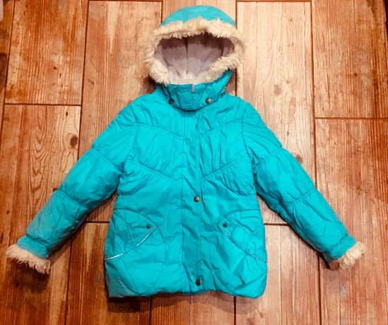 Зимняя куртка Lenne р.122-128 в отличном состоянии
