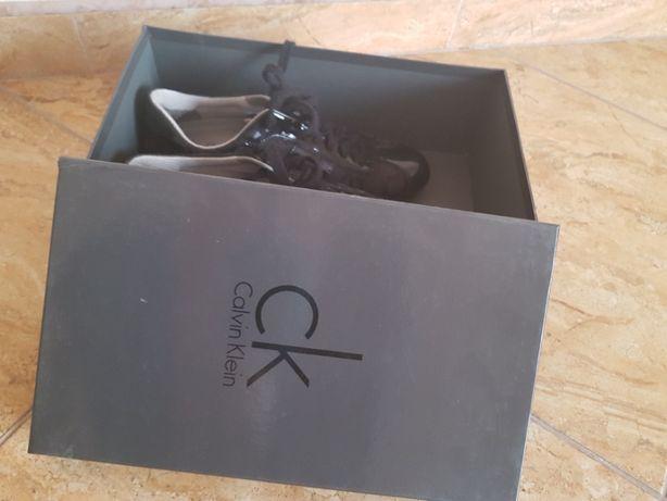 Calvin Clein Оригинальные кожаные кроссовки Идеал Оригинал