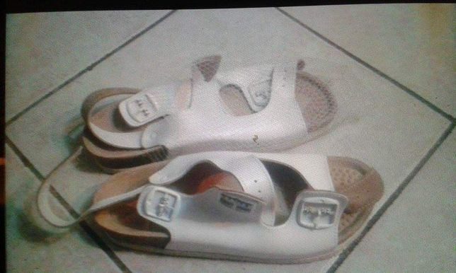 Sandały buty damskie na korku  skóra roz. 39