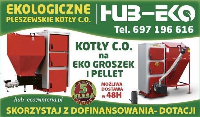 Kocioł piec z podajnikiem na pellet 5 klasa 14 KW (20 , 30 KW) HUB-EKO