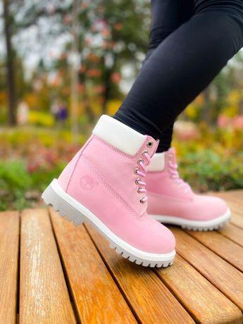 Зимние Timberland Pink