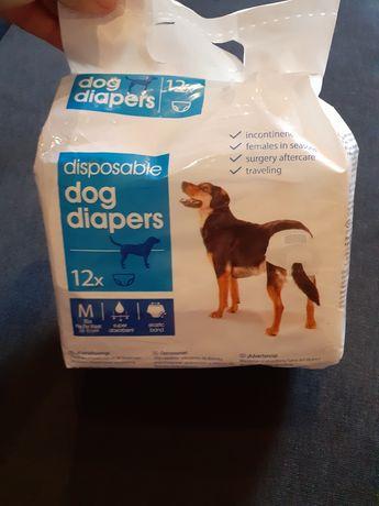 Pampersy dla psa rozmiar M