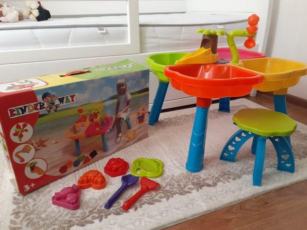 Ігровий столик стільчик для гри з піском KINDERWAY