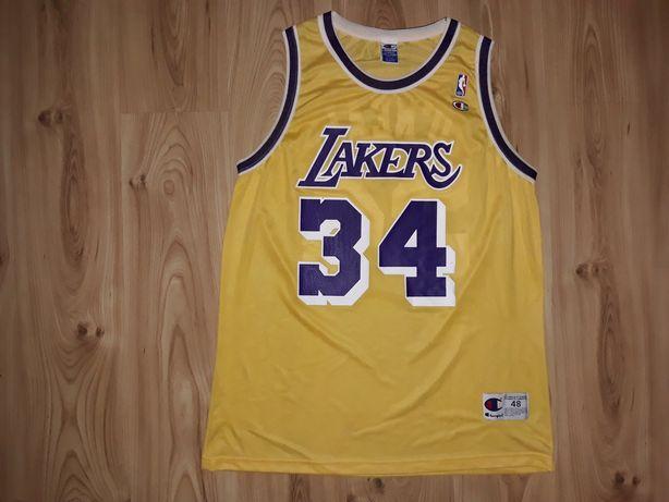 Koszulka XXL 48 Champion LA Lakers O'Neal 34 NBA