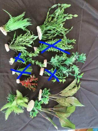 Conjunto de 8 plantas artificiais para decoração de aquário