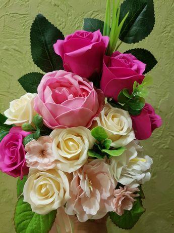 День  рождения,юбилей, букет с мыльных роз